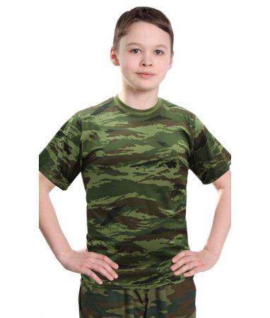 Зелёный камыш футболка детская